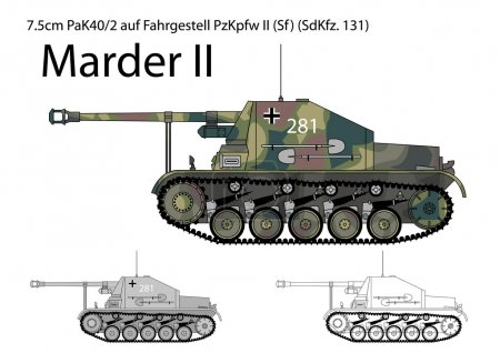 German WW2 Marder II tank