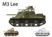 American WW2 M3 Lee medium tank