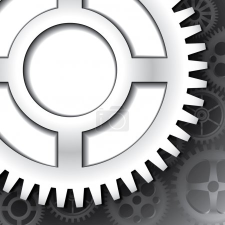 Background with cogwheels