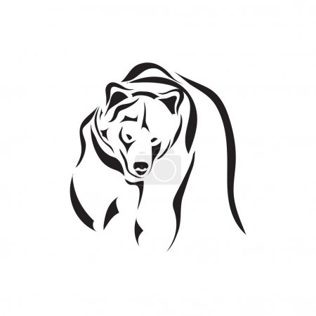 Illustration pour Croquis de tatouage vectoriel artistique animal - image libre de droit