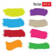 Vector color grunge banners setIllustration art Eps10