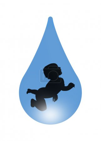 Baby in a drop of water