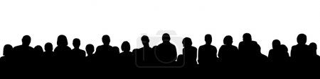 Photo for Black silhouette of a large audience, panoramic view - Royalty Free Image