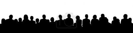 Photo pour Silhouette noire d'un large public, vue panoramique - image libre de droit