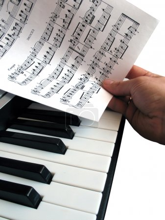piano music with hand