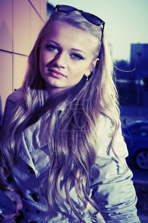 Young blonde beautiful lady