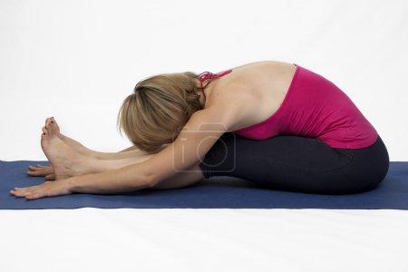 Yoga poses in studio
