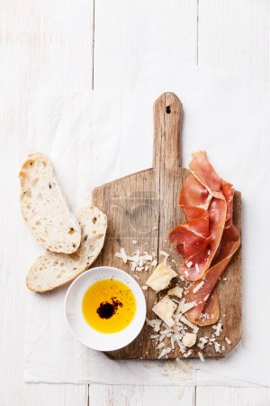 Chopping board of Cured Meat, Cheese and Ciabatta