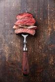 Plátky hovězí steak na vidlice