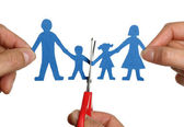 Paper chain family divorce