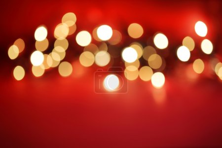 Photo for Abstract blurred white lights on red background - Royalty Free Image