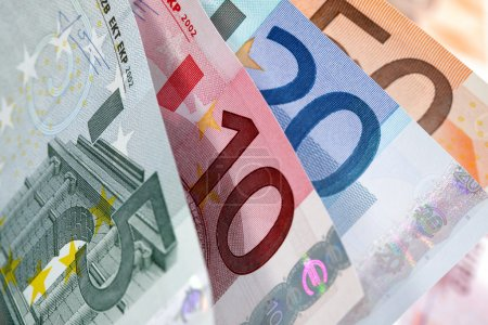 Photo for European currency banknotes fan close-up - Royalty Free Image
