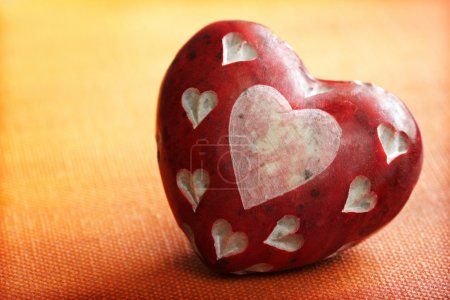 Photo for Heart shape stone concept for love - Royalty Free Image