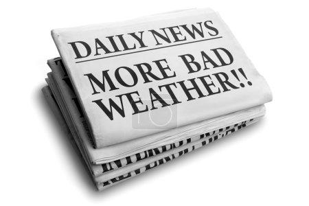 Photo pour Daily news journal titre lire plus mauvais temps - image libre de droit