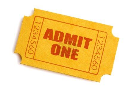 Photo pour Générique billet jaune isolé sur fond blanc - image libre de droit