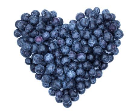 Foto de Concepto de símbolo de arándano corazón forma para comer saludable y estilo de vida - Imagen libre de derechos