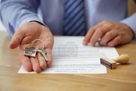 Handing over house keys