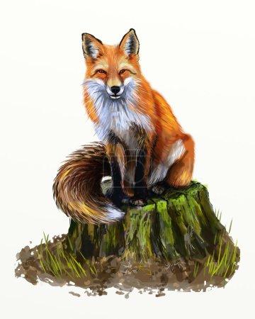 Photo pour Peinture de renard - image libre de droit