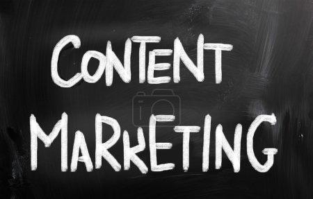 Foto de Contenido concepto de la comercialización - Imagen libre de derechos
