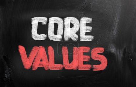 Photo pour Concept de valeurs de base - image libre de droit