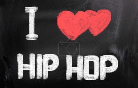 Photo pour J'aime le concept de hip-hop - image libre de droit