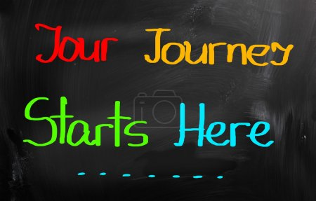 Photo for Your Journey Starts Here Concept - Royalty Free Image