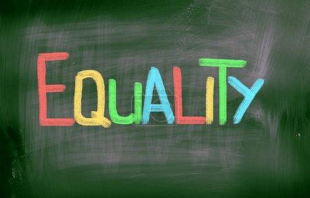 Photo pour Concept d'égalité - image libre de droit