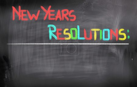 Photo for New Years Resolutions Concept - Royalty Free Image