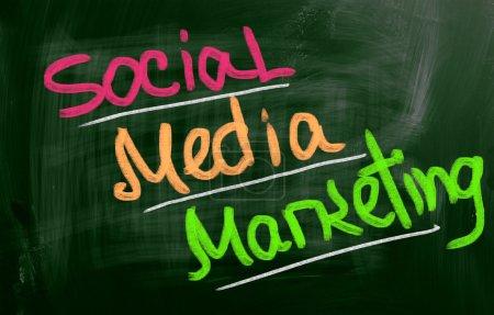 Photo pour Concept de marketing des médias sociaux - image libre de droit