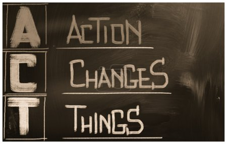 Photo for Action Changes Things Concept - Royalty Free Image