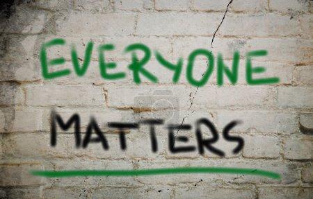 Photo pour Tout le monde compte concept - image libre de droit