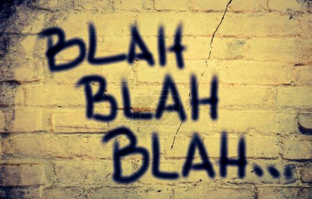 Photo for Blah Blah Blah  Concept - Royalty Free Image