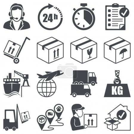 Icons set: Logistics