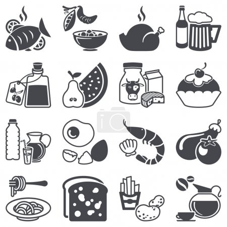 Illustration for Icons set: Food and Drink - Royalty Free Image