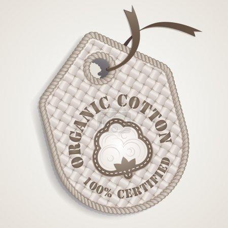 Illustration for Organic cotton label - Royalty Free Image