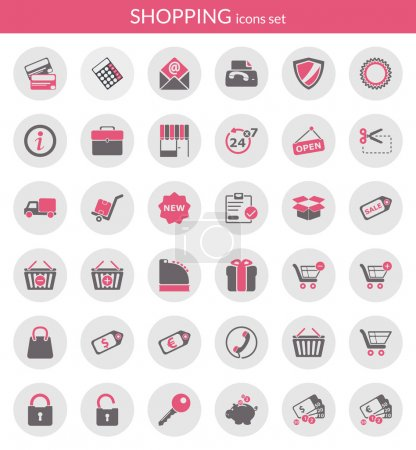 Icons about shopping