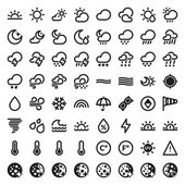 The Weather flat icons Black