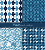 Winter seamless patterns Blue and white fabric
