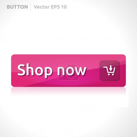 Illustration pour Bannière d'entreprise de conception vectorielle de modèle de bouton avec l'élément rose de site Web d'icône de symbole - image libre de droit