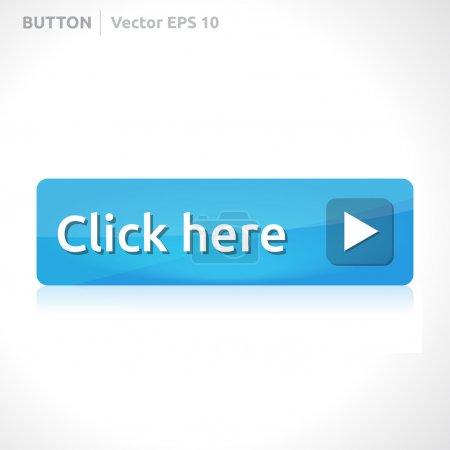 Illustration pour Cliquez ici modèle de bouton bannière d'entreprise de conception vectorielle avec icône symbole élément de site web web bleu - image libre de droit