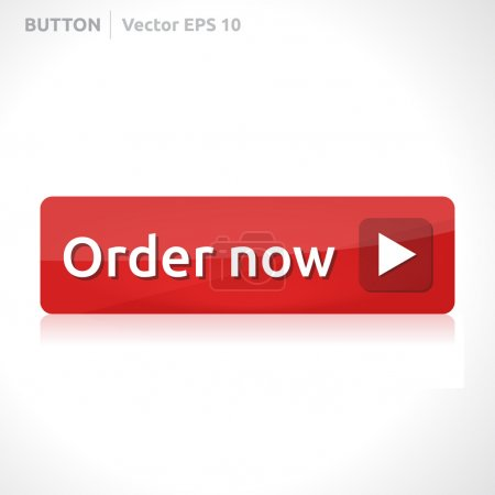 Illustration for Order now button template vector design eps business banner with symbol icon website element web red - Royalty Free Image