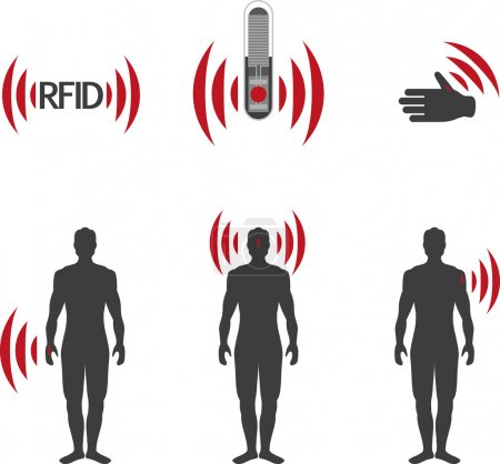 Implantable RFID tag Icon