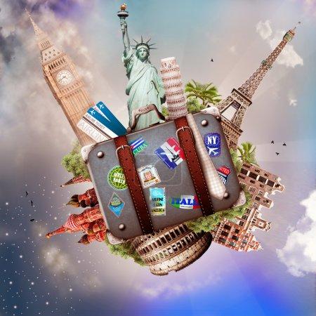 Photo pour Voyage, les attractions du monde, la beauté et le tourisme - image libre de droit