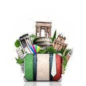 Italien, Sehenswürdigkeiten Italien und retro Koffer