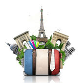 Francie a Paříže, retro kufr