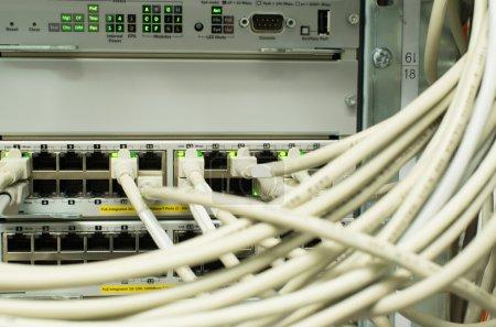 Photo pour Noyau de fibre de sécurité réseau - image libre de droit