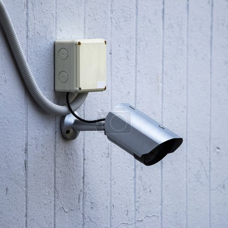 Photo for Outdoor security cctv cameras on wall. - Royalty Free Image