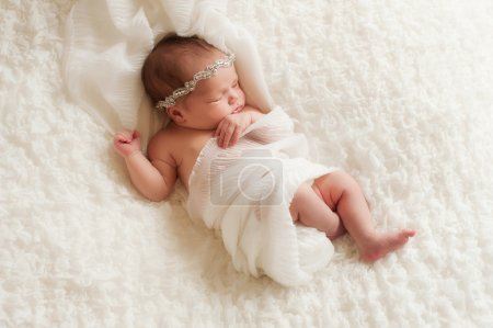 Portrait of an Angelic Newborn Girl