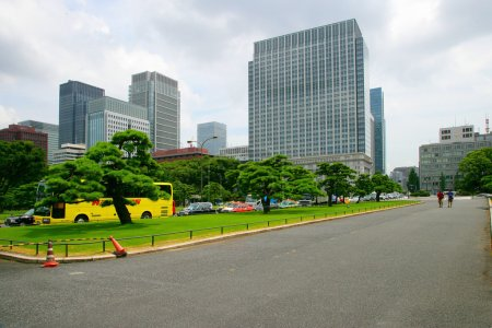 The streets of Tokyo, Japan Imperial Palace Outer Garden