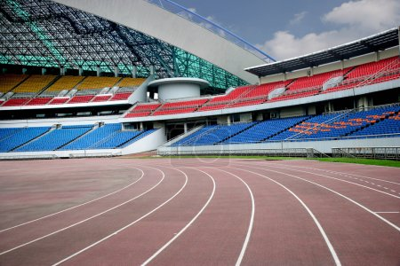 Photo pour Chongqing sports olympiques Centre tribune, - image libre de droit